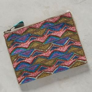 Bright Beaded Triangles Clutch